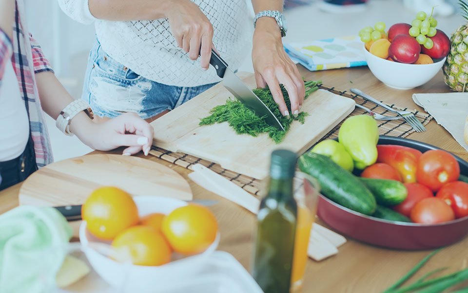 Gorgeous Young Women Preparing Dinner In A Kitchen Concept Cooking Culinary Healthy Lifestyle