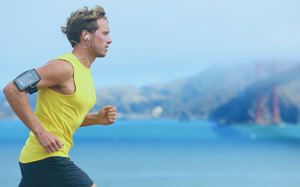 Male Runner In San Francisco