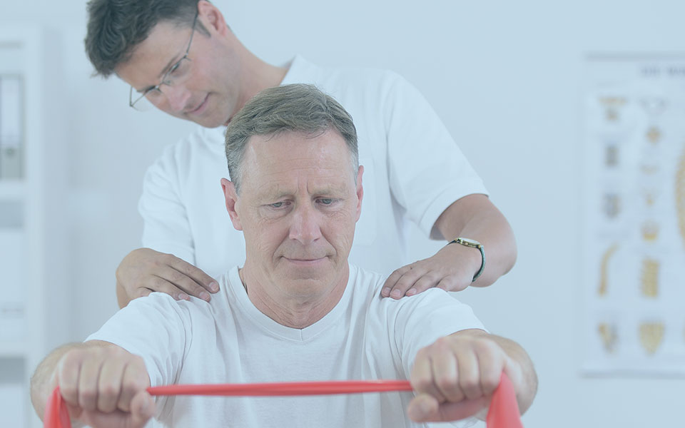 Physiotherapy Senior Man And Physiotherapist