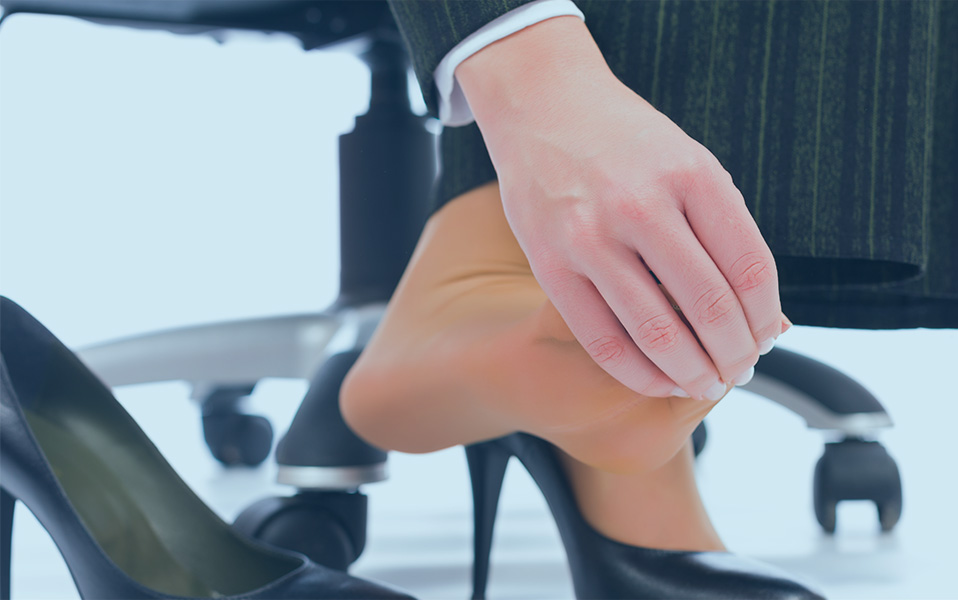 Plantar Fasciitis At Woman